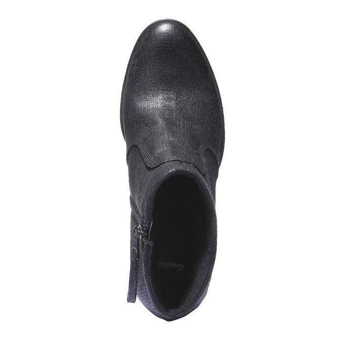 Kožené členkové topánky bata, čierna, 796-6107 - 19