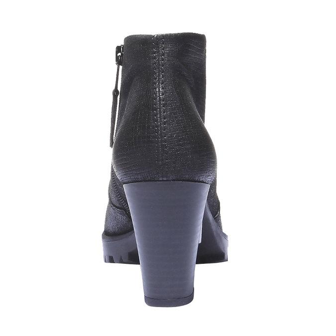 Kožené členkové topánky bata, čierna, 796-6107 - 17