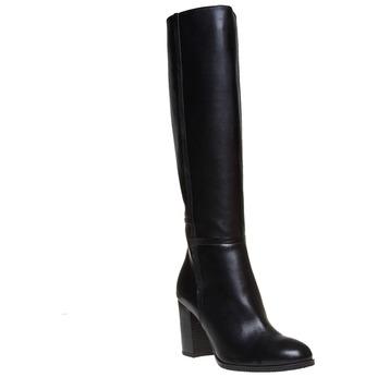 Kožené dámske čižmy bata, čierna, 794-6447 - 13