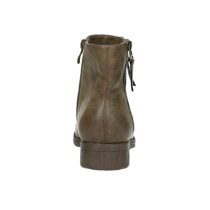 Dámska členková  obuv so zipsami bata, hnedá, 591-3612 - 17
