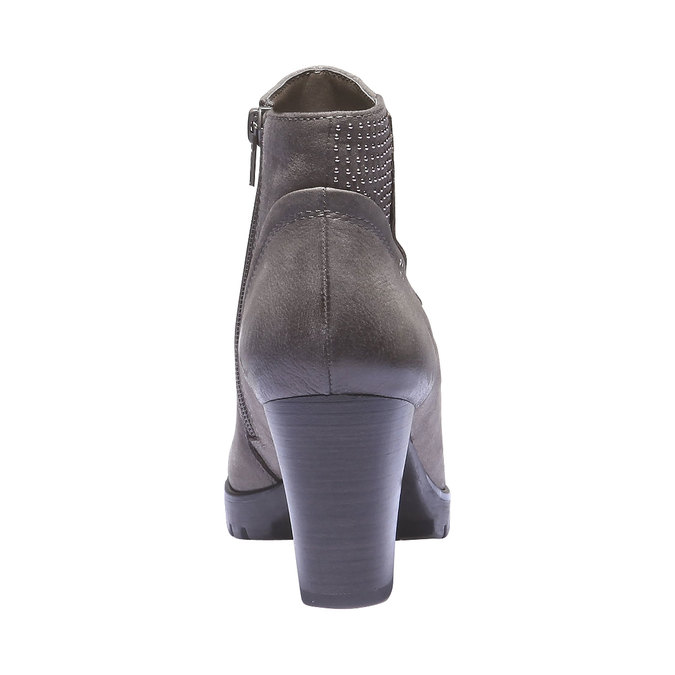 Kožená členková obuv bata, šedá, 796-2122 - 17
