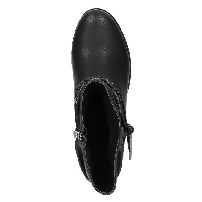 Čierne členkové čižmy bata, čierna, 591-6610 - 19