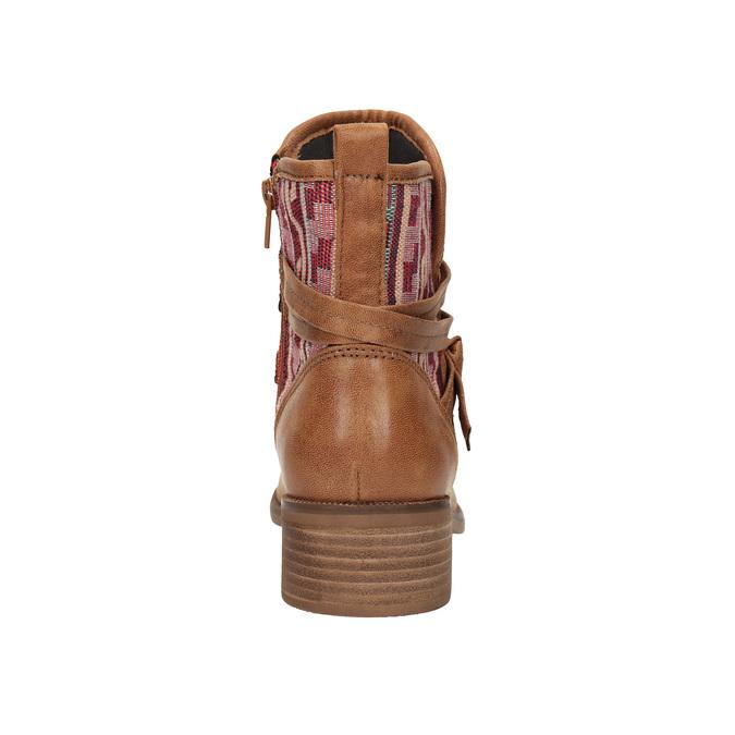 Členkové čižmy v Etno štýle bata, hnedá, 599-4604 - 17