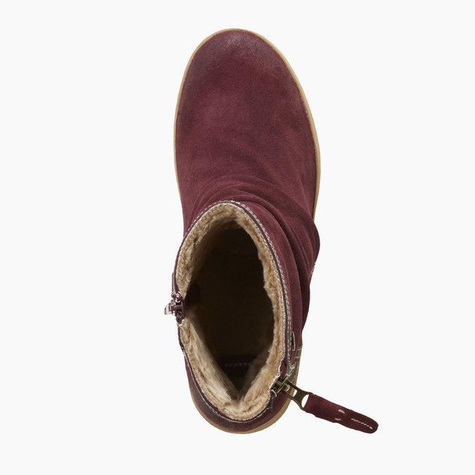 Kožené členkové čižmy bata, 593-9103 - 19
