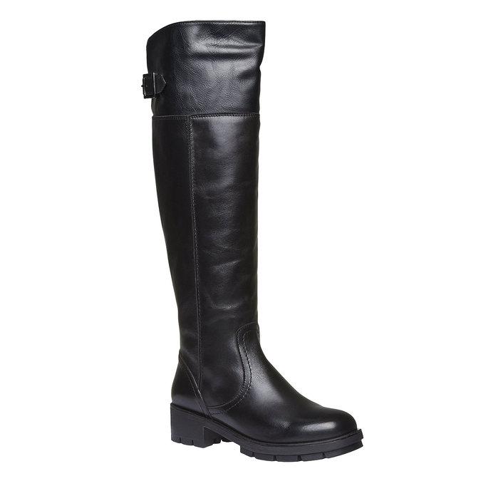 Kožené čižmy s výraznou podrážkou bata, čierna, 594-6133 - 13