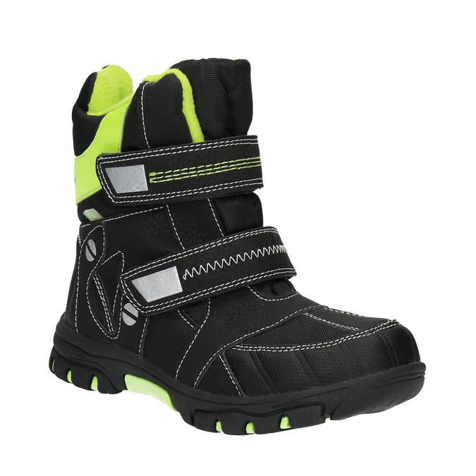 Detská obuv so zateplením mini-b, čierna, 291-6601 - 13