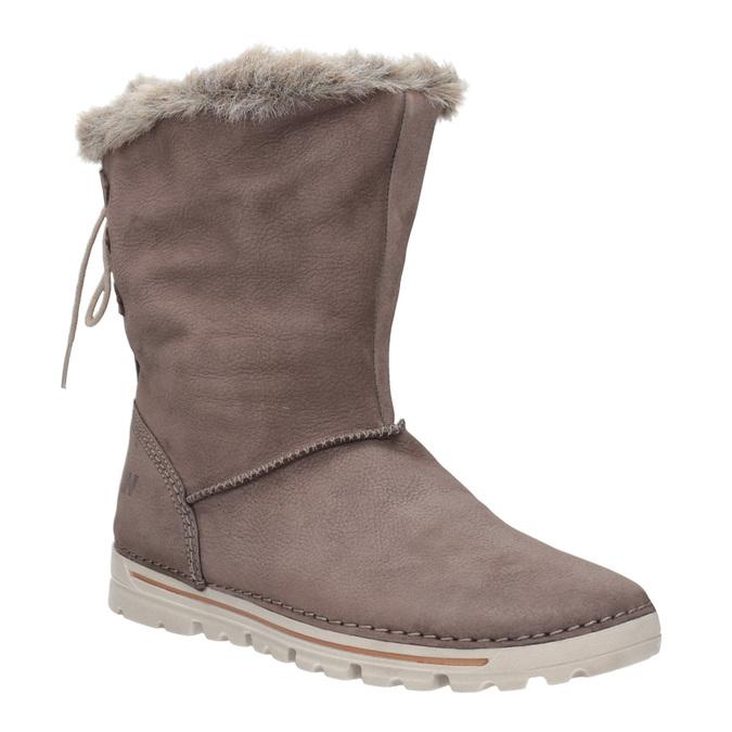 Kožená členková obuv weinbrenner, hnedá, 596-4334 - 13