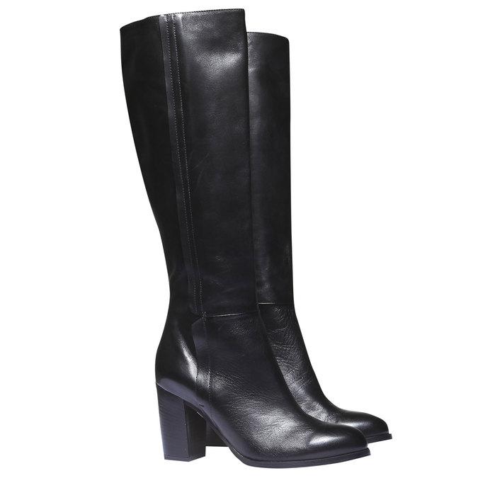Dámske kozačky bata, čierna, 794-6603 - 26