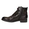 Kožená členková obuv s prackami bata, hnedá, 894-4683 - 26