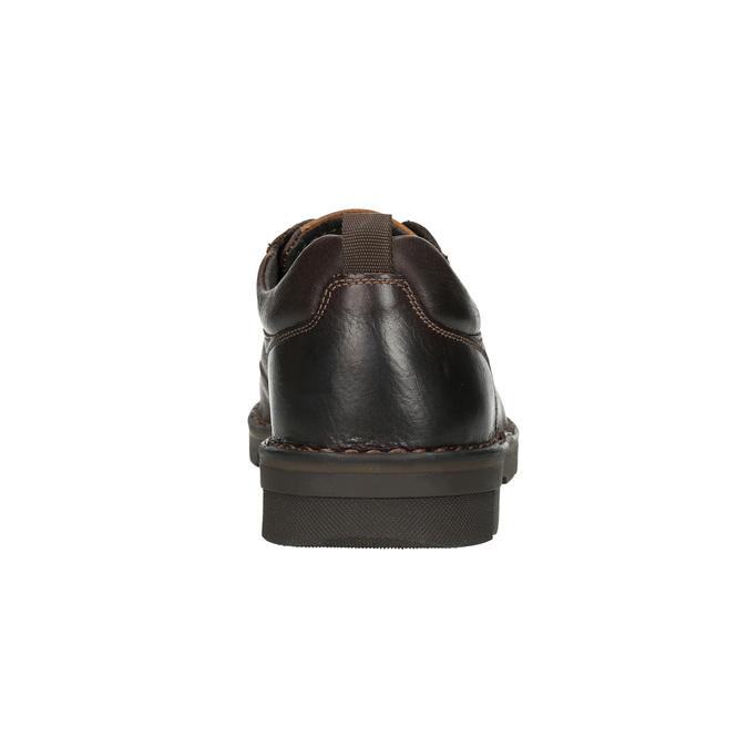Ležérne kožené poltopánky na výraznej podrážke bata, hnedá, 824-4698 - 17
