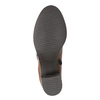 Dámske kožené čižmy nad členky bata, hnedá, 694-3359 - 26
