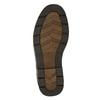 Ležérne kožené poltopánky na výraznej podrážke bata, hnedá, 824-4698 - 19