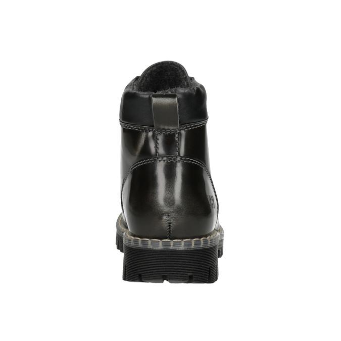 Kožená dámska zimná obuv weinbrenner, zelená, 596-7634 - 17