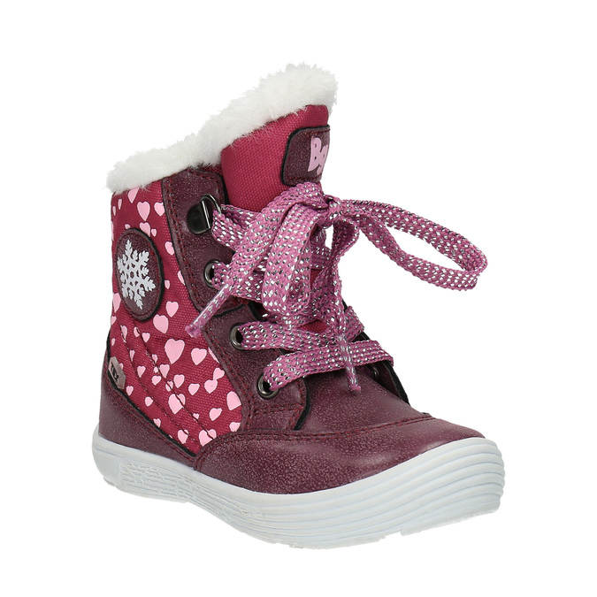 Dievčenská  zimná obuv s kožúškom bubblegummer, červená, 199-5600 - 13