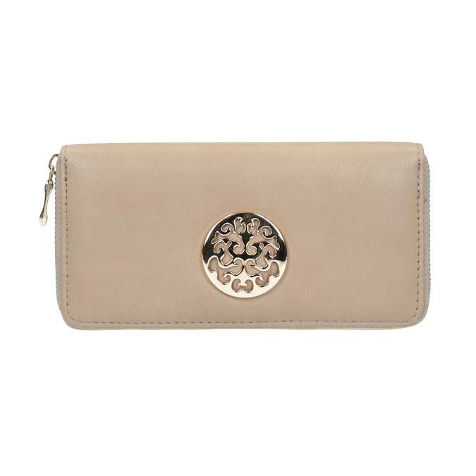 Elegantná peňaženka s ozdobou bata, béžová, 941-8150 - 26