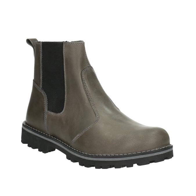 Detská kožená členková obuv mini-b, šedá, 394-2316 - 13