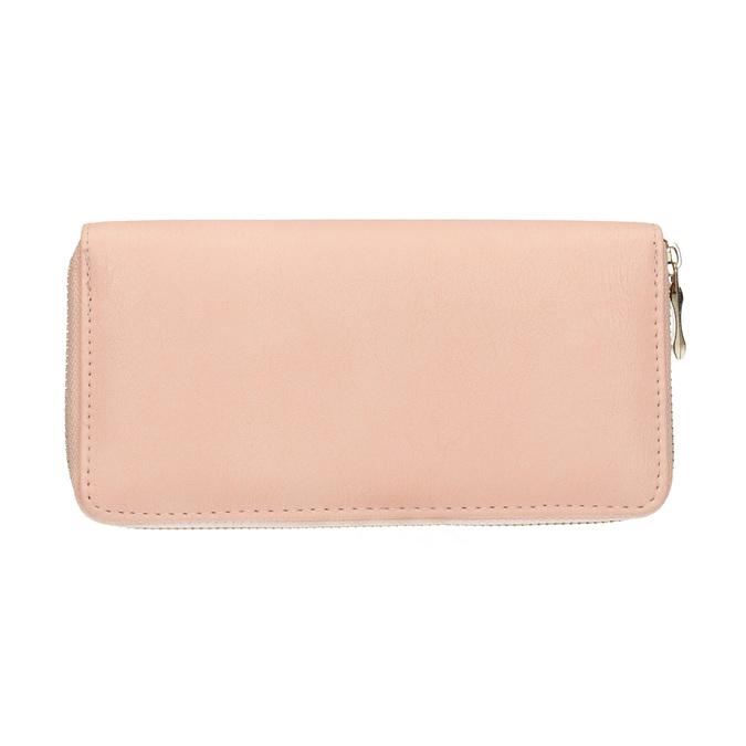 Peňaženka s kovovou aplikáciou bata, ružová, 941-5150 - 19