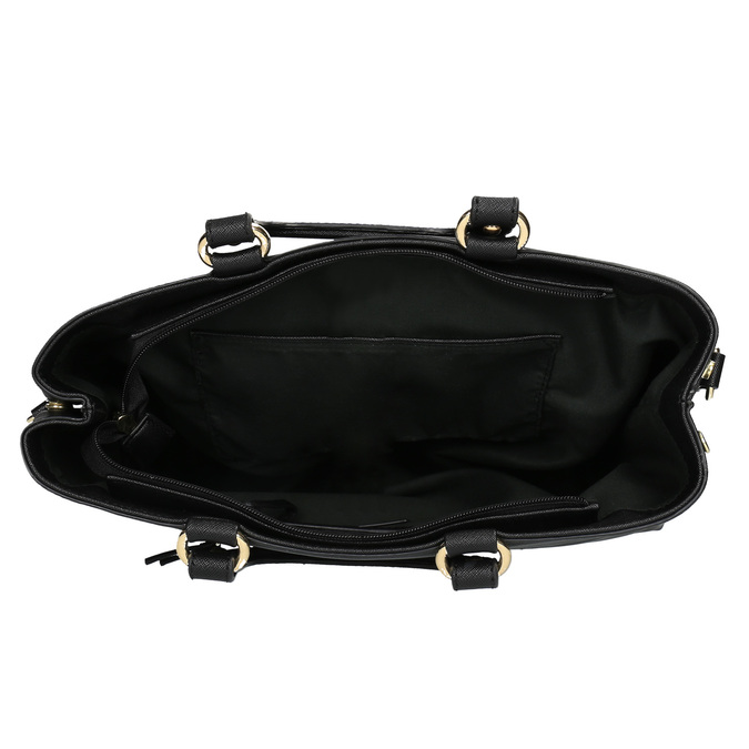 Dámska kabelka do ruky bata, čierna, 961-6627 - 15