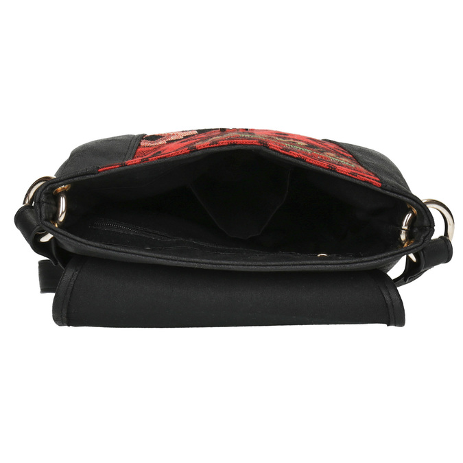 Crossbody kabelka s Etno vzorom bata, čierna, 969-6642 - 15