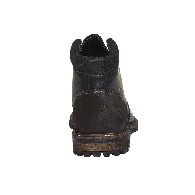 Kožená zimná obuv členková bata, čierna, 894-6133 - 17