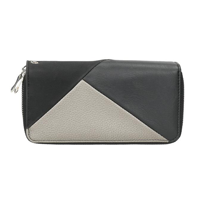 Dámska peňaženka v Patchwork štýle bata, čierna, 941-6152 - 26