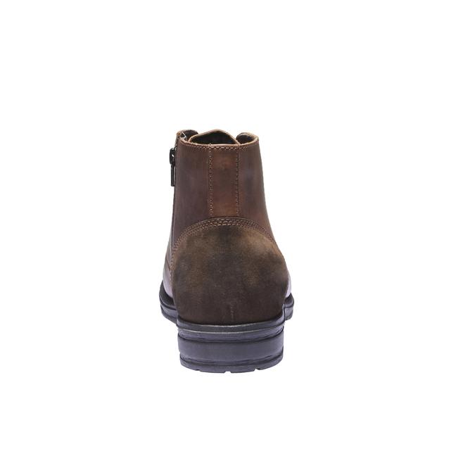 Ležérna kožená obuv bata, hnedá, 894-3555 - 17
