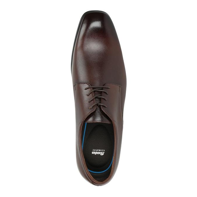 Kožené pánske Derby poltopánky bata, hnedá, 824-4752 - 19