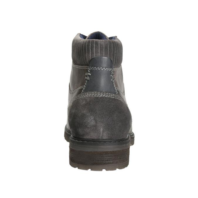 Kožená obuv k členkom bata, šedá, 894-2643 - 17