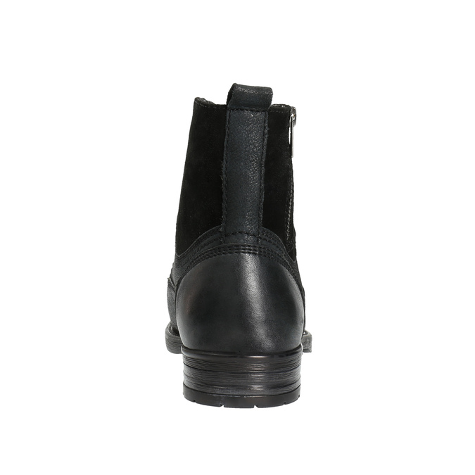 Kožená pánska obuv bata, čierna, 896-6642 - 17