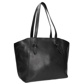 Čierna kožená kabelka bata, čierna, 964-6205 - 13
