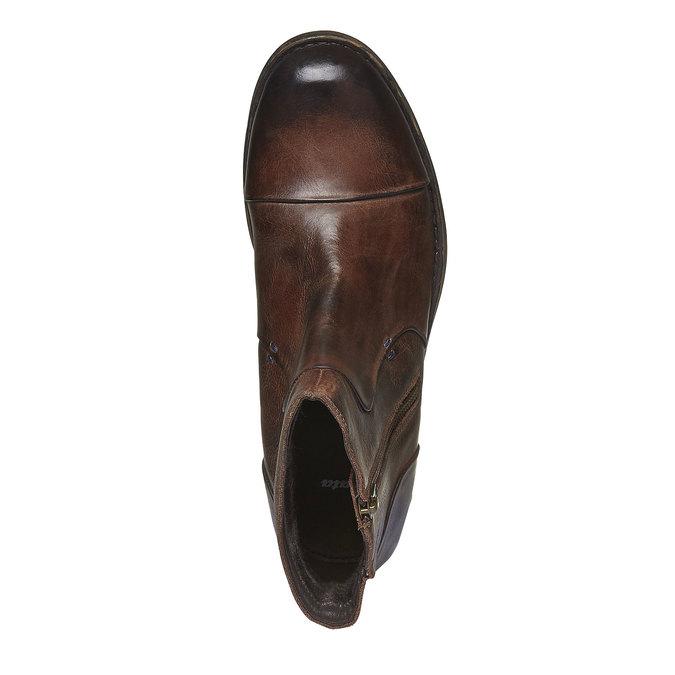 Kožené členkové topánky so zipsom bata, hnedá, 894-4131 - 19