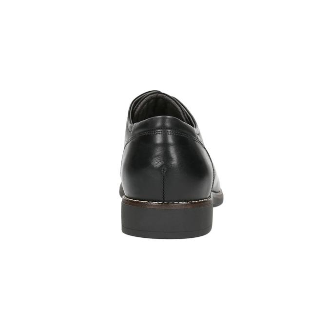 Kožené poltopánky v štýle derby bata-light, čierna, 824-6616 - 17