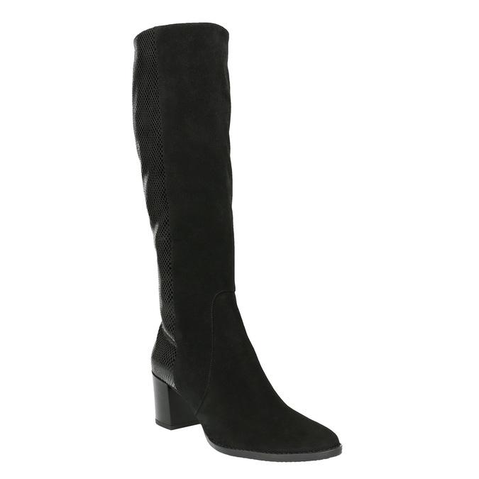 Dámske kožené čižmy bata, čierna, 696-6645 - 13