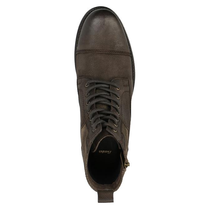 Pánska kožená obuv bata, hnedá, 896-4642 - 19