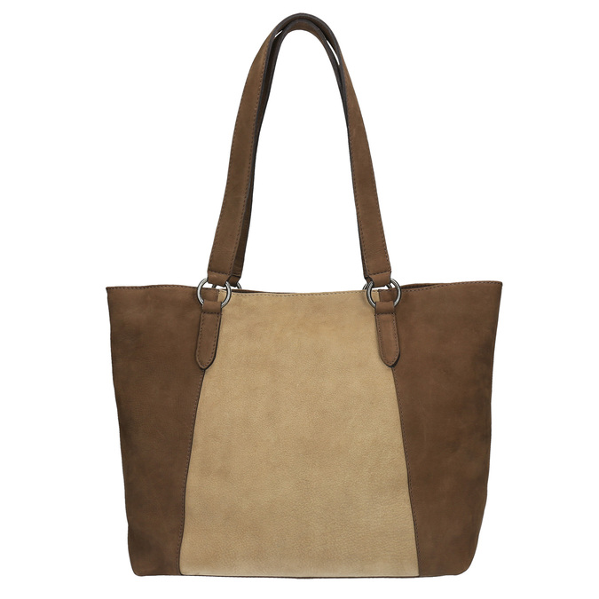 Dámska kožená kabelka bata, žltá, 966-8200 - 19