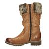 Kožené čižmy s kožúškom bata, hnedá, 594-3612 - 26
