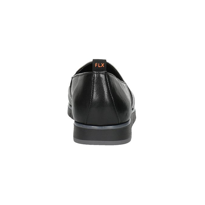 Dámske kožené Slip-on čierne flexible, čierna, 514-6252 - 17