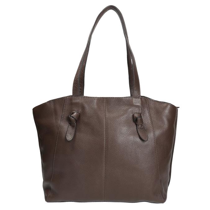 Dámska kožená kabelka hnedá bata, hnedá, 964-4205 - 26