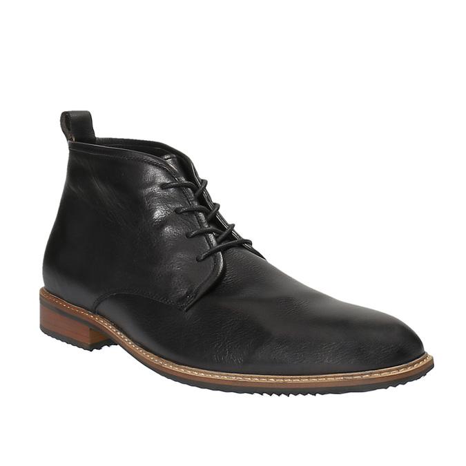 Kožená členková obuv bata, čierna, 894-6665 - 13