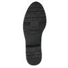 Čierne kožené čižmy šírky H bata, čierna, 596-6611 - 26