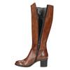 Kožené dámske čižmy bata, hnedá, 694-3361 - 19