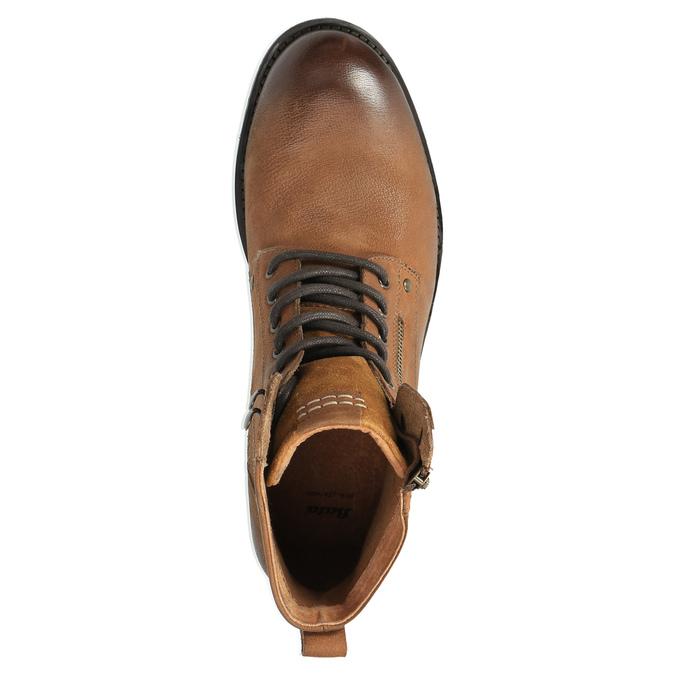 Pánska obuv v Ombré štýle bata, hnedá, 896-3649 - 19