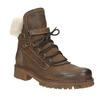 Dámska kožená zimná obuv manas, hnedá, 596-4602 - 13