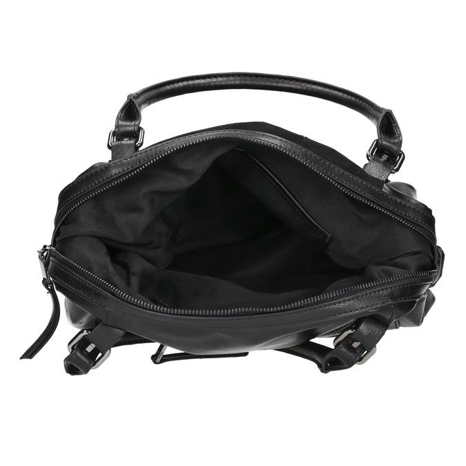 Kabelka s kovovou aplikáciou bata, čierna, 961-6261 - 15