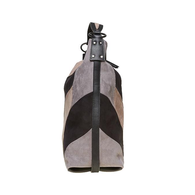 Kabelka v štýle Hobo Bag bata, čierna, 969-6231 - 17