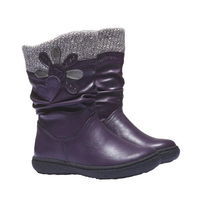 Detská obuv mini-b, fialová, 291-9119 - 26