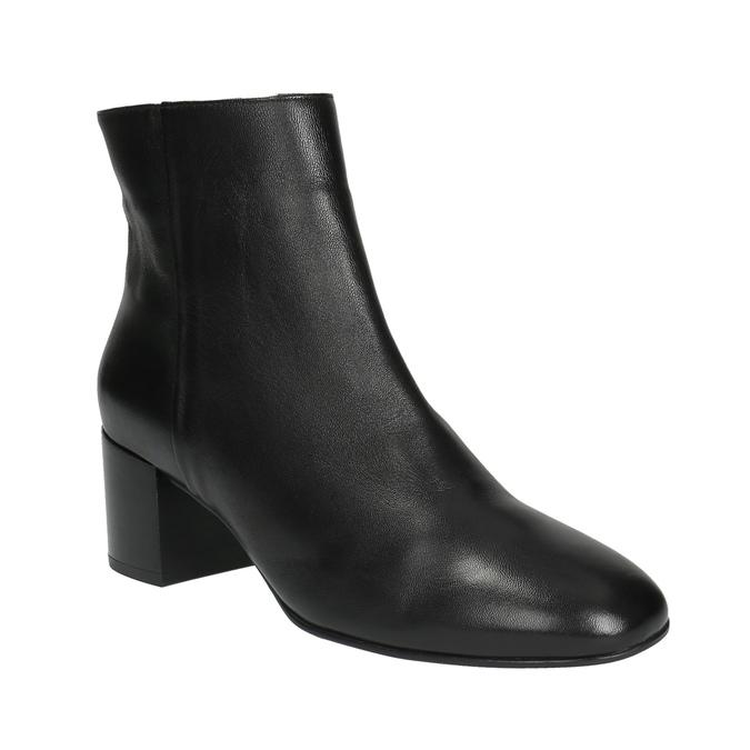 Kožená členková obuv hogl, čierna, 794-6003 - 13