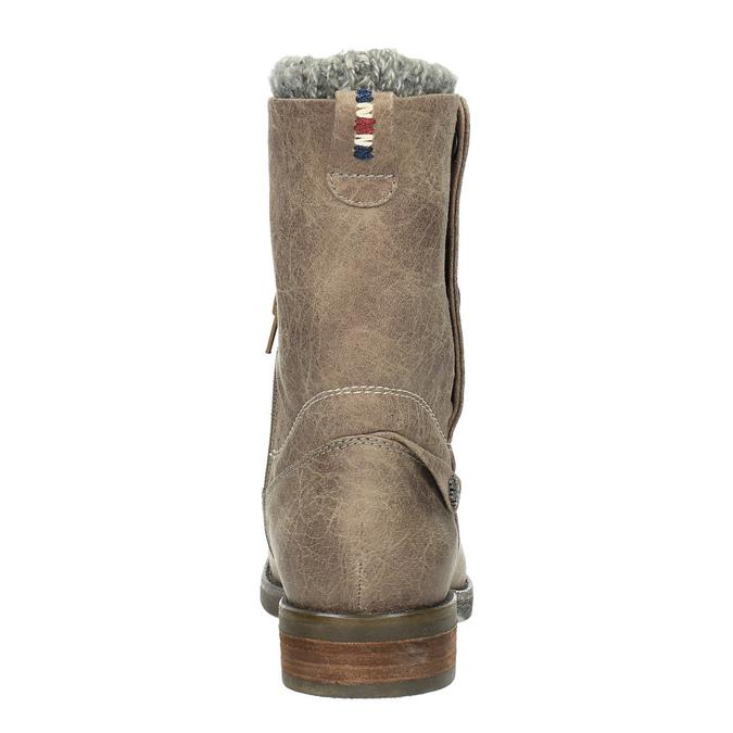 Dámské čižmy s cvokmi bata, hnedá, 591-2600 - 17