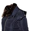 Dámska zimná bunda s kožúškom bata, modrá, 979-9649 - 16