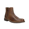 Kožená členková obuv s ozdobným zipsom bata, hnedá, 896-3654 - 13